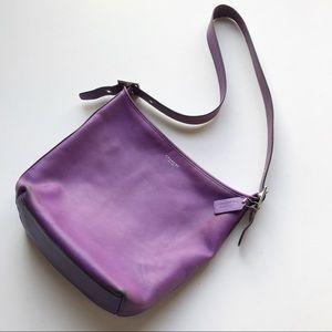 Coach Bucket Tote Shoulder Bag Purple Crossbody